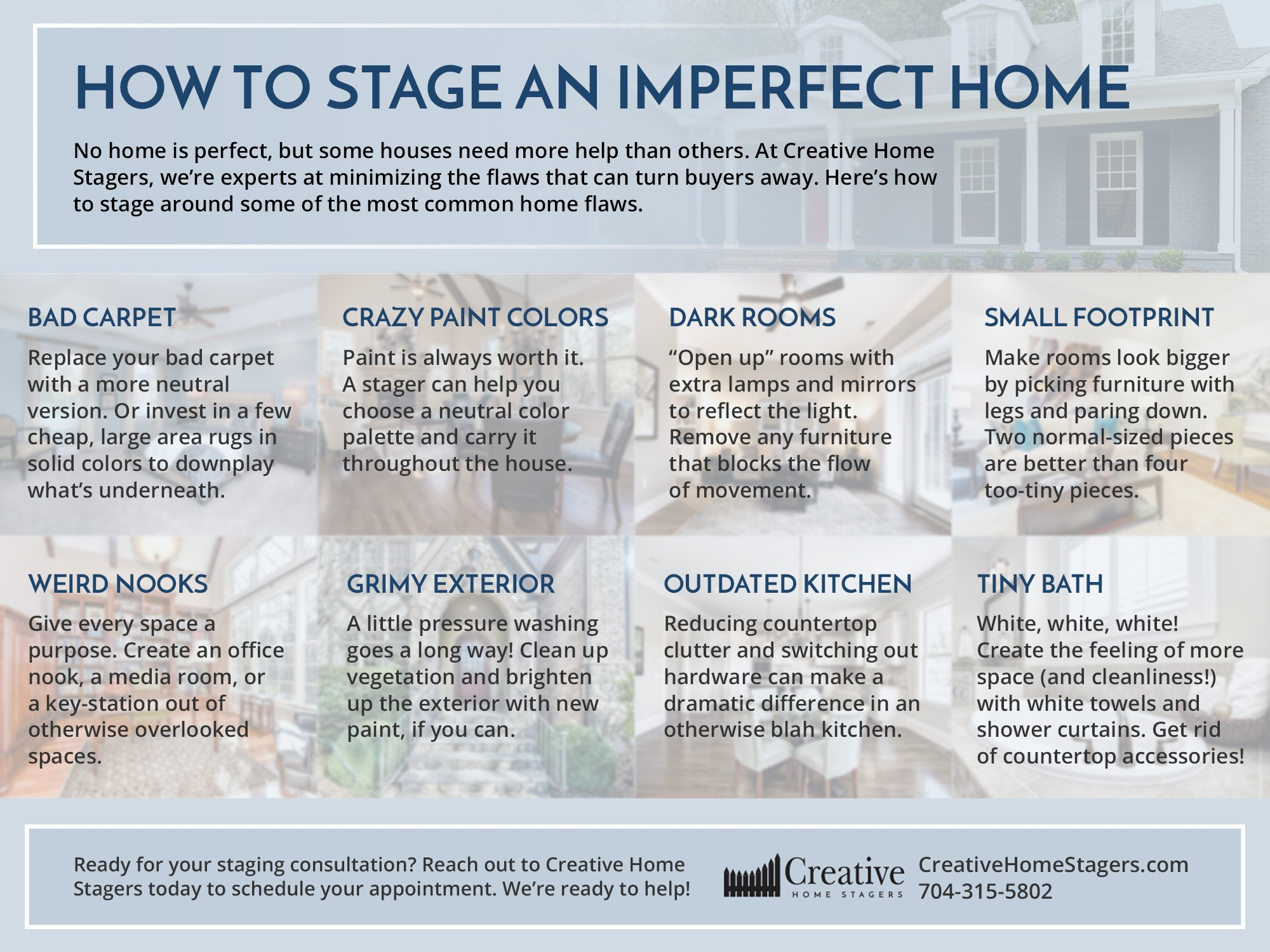 Infographic: How to Stage an Imperfect Home